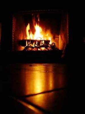 Al calor de la chimenea